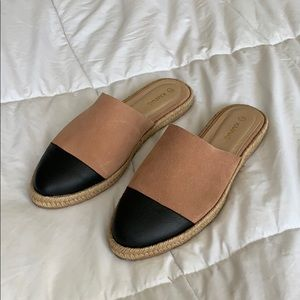 Kaanas MARBELLA SUEDE LEATHER ESPADRILLE MULES